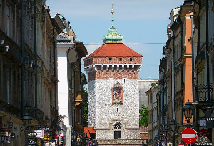 Kraków brama florianska