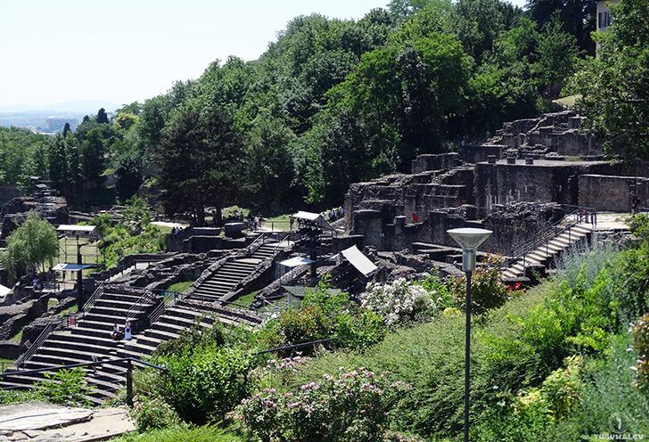 Lyon ruiny rzymskie