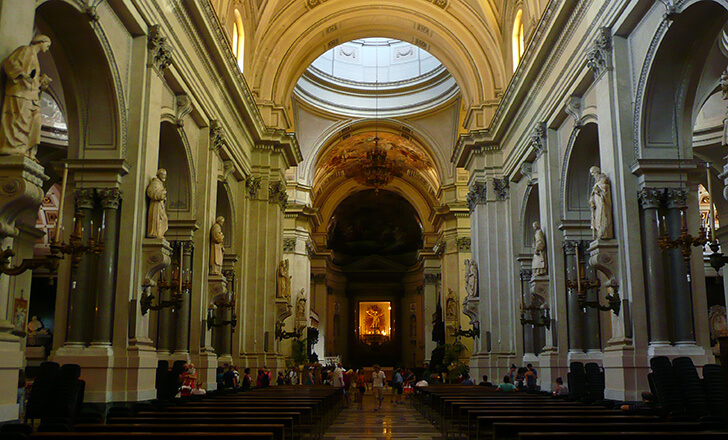 Palermo cathedral inside