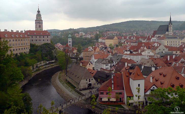 czeski krumlov widok namiasto