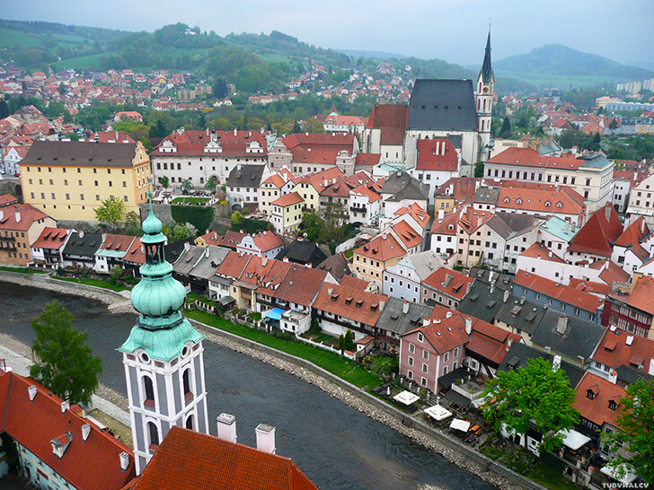Czeski Krumlov panorama miasta