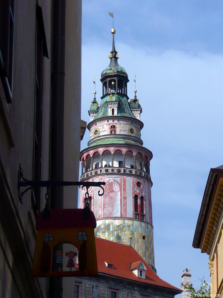 Czeski krumlov zamkowa wieża
