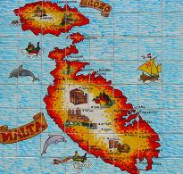 Malta mapa malty w ta qali