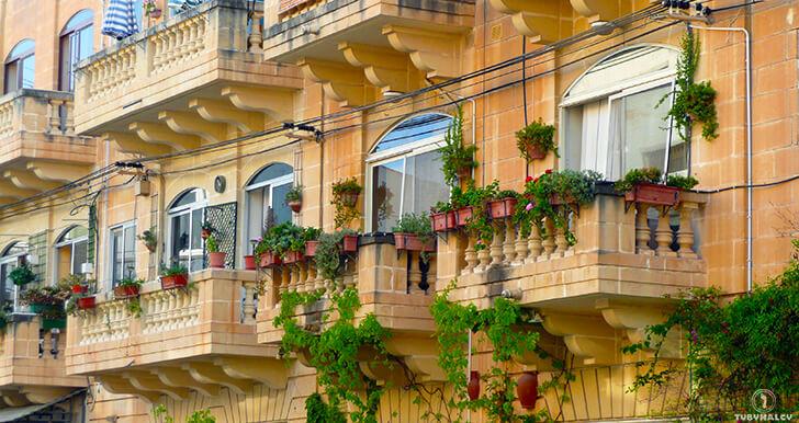 valletta balkony malta nazdjęciach
