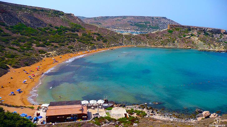 malta Ghajn Tuffieha Bay plaża