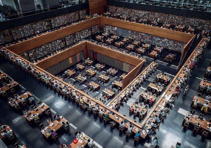 najpiękniejsze biblioteki chiny pekin biblioteka publiczna
