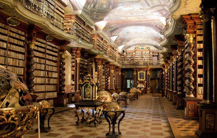 najpiękniejsze biblioteki czechy praga