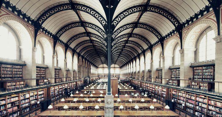 najpiękniejsze biblioteki francja paryż sainte genevieve