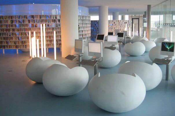 najpiękniejsze biblioteki holandia biblioteka publiczna wAmsterdamie