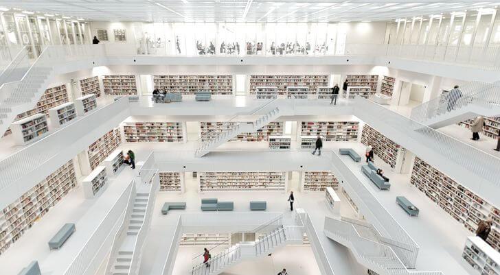 najpiękniejsze biblioteki niemcy stuttgart