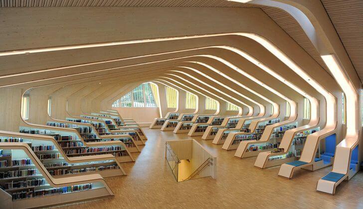 najpiękniejsze biblioteki norwegia venessla