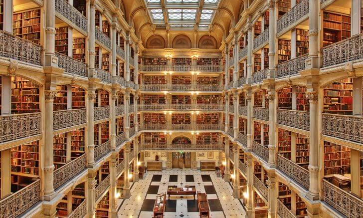 najpiękniejsze biblioteki USA Baltimore George Peabody