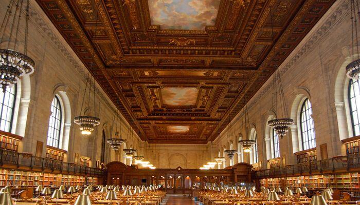 najpiękniejsze biblioteki usa nowy jork biblioteka publiczna