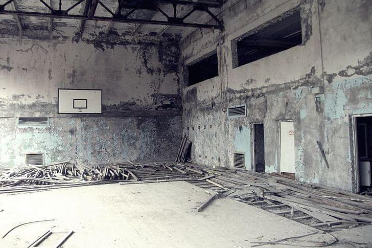 wycieczka doczarnobyla - sala gimnastyczna