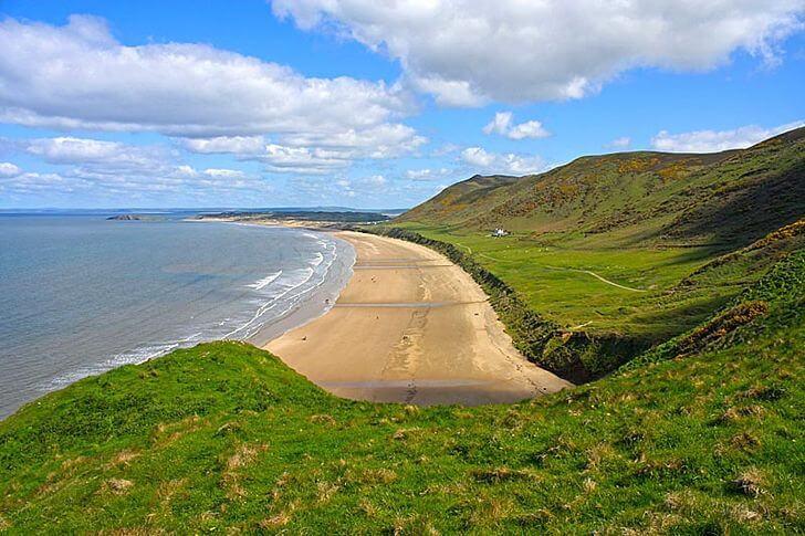 rhossili - najpiękniejsze plaże weuropie zestawienie