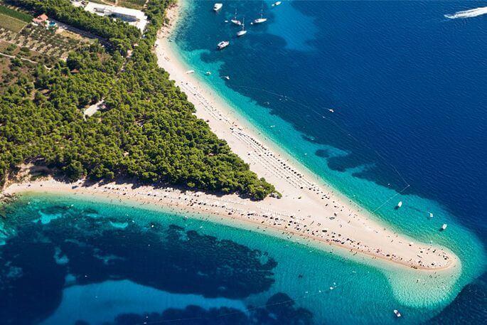 Zlatni Rat - najpiękniejsze plaże weuropie zestawienie